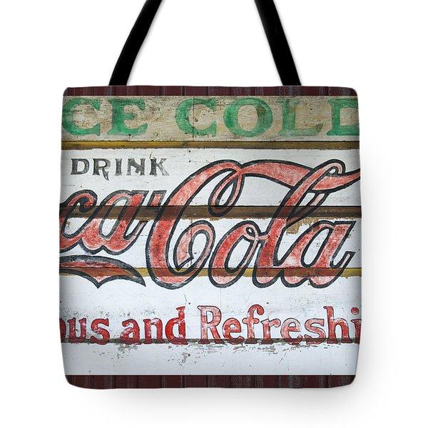 Antique Coca Cola Sign  Tote Bag