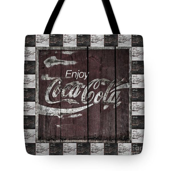Antique Coca Cola Signs Tote Bag by John Stephens