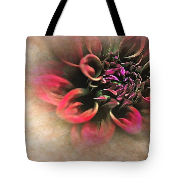 Antique Dahlia Tote Bag by Kaye Menner