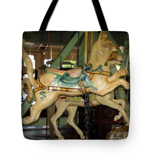 Antique Dentzel Menagerie Carousel Cat Tote Bag