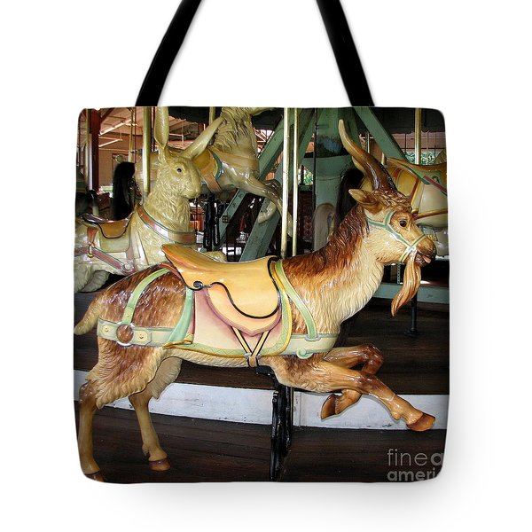 Antique Dentzel Menagerie Carousel Goat Tote Bag