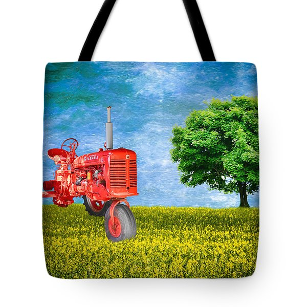 Antique Farmall Tractor Tote Bag