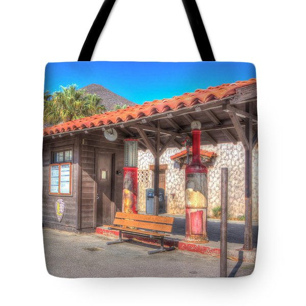 Antique Gas Station Tote Bag by Heidi Smith