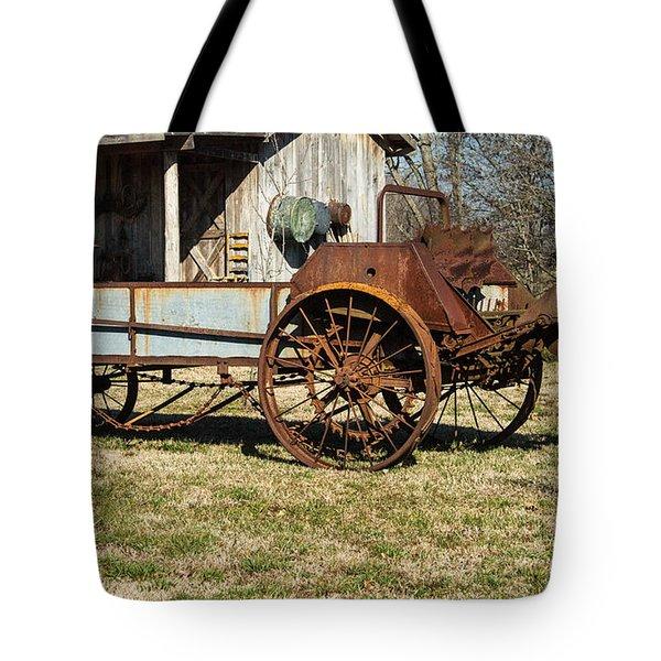 Antique Hay Bailer 1 Tote Bag by Douglas Barnett