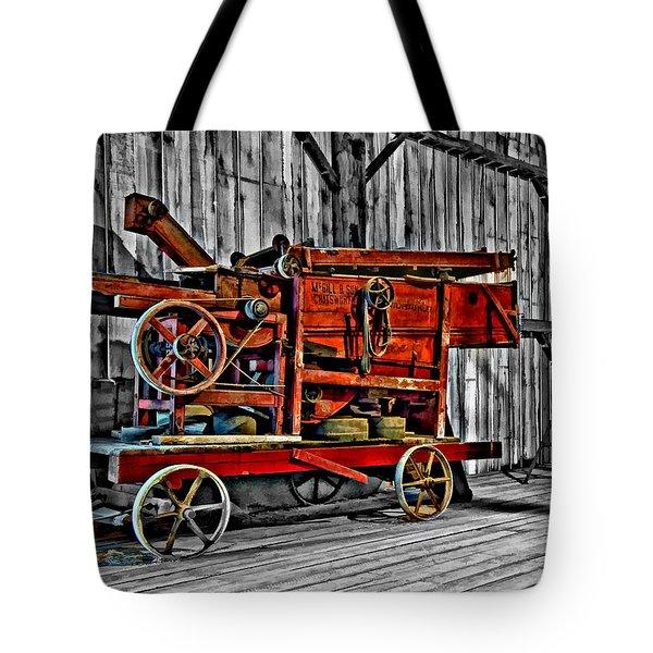 Antique Hay Baler Selective Color Tote Bag by Steve Harrington