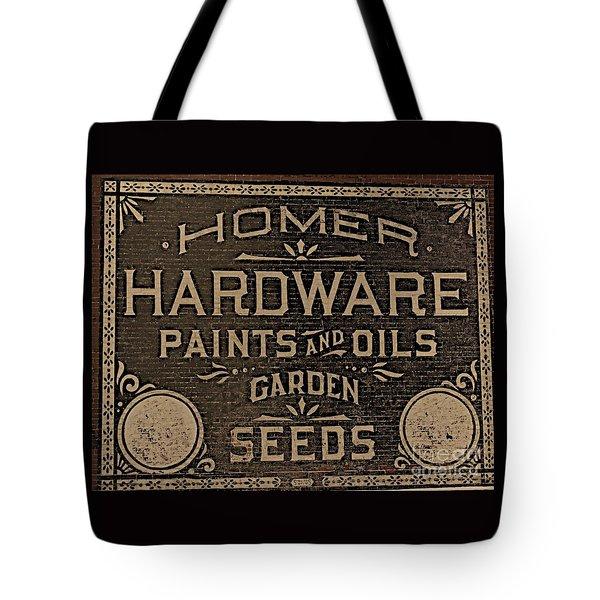 Antique Homer Hardware Tote Bag