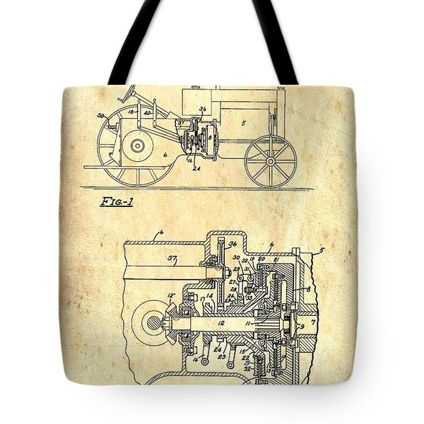 Antique Massey-ferguson Tractor Patent 1935 Tote Bag
