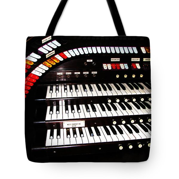 Tote Bag featuring the photograph Antique Organ by Marcia Socolik