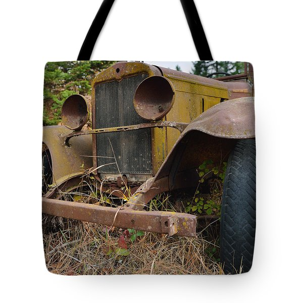 Antique Pickup Truck Tote Bag