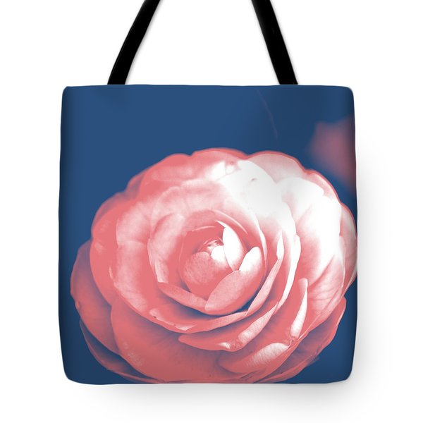 Antique Pink Camellia Flower Tote Bag