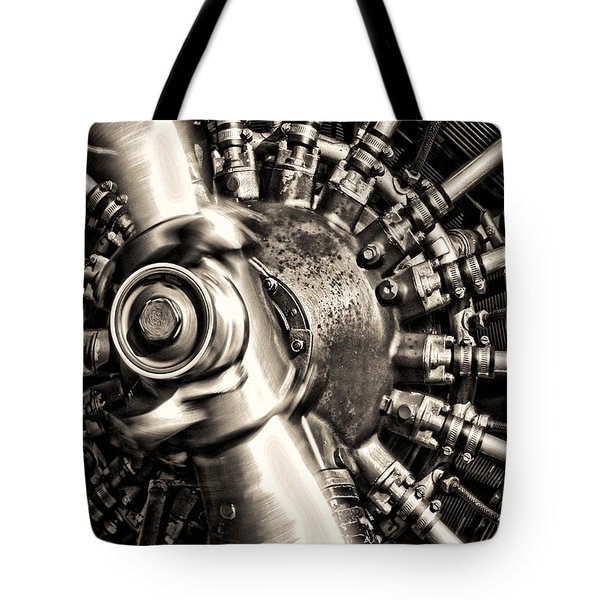 Antique Plane Engine Tote Bag
