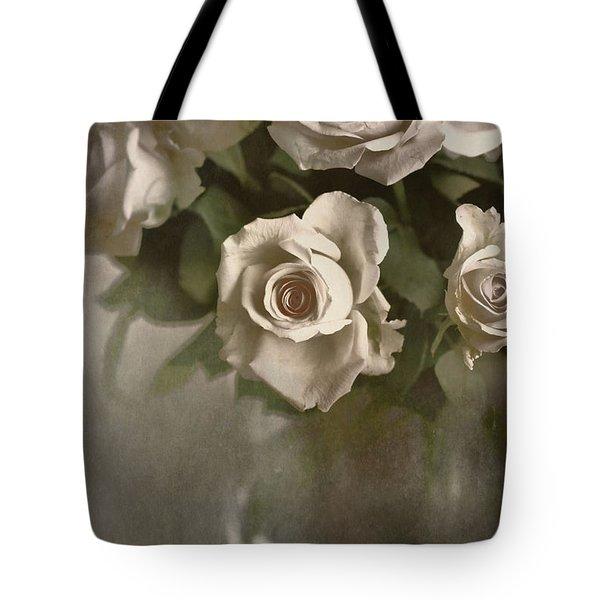 Antique Roses Tote Bag