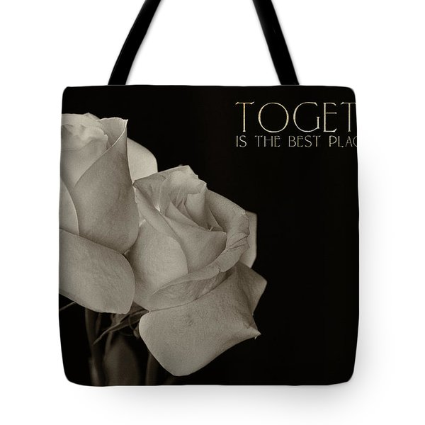 Antique Roses With Message Tote Bag