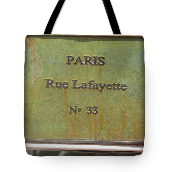 Tote Bag featuring the photograph Antique Sign by Tina M Wenger