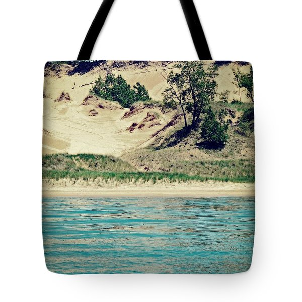 Antique Snapshot Series - Dunes On Lake Michigan Tote Bag