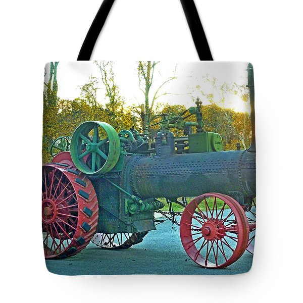 Antique Steam Tractor Tote Bag