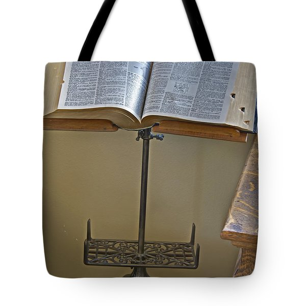 Antique Still Life Reading Stand Tote Bag