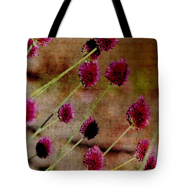 Antique Style Pink Floral Tote Bag
