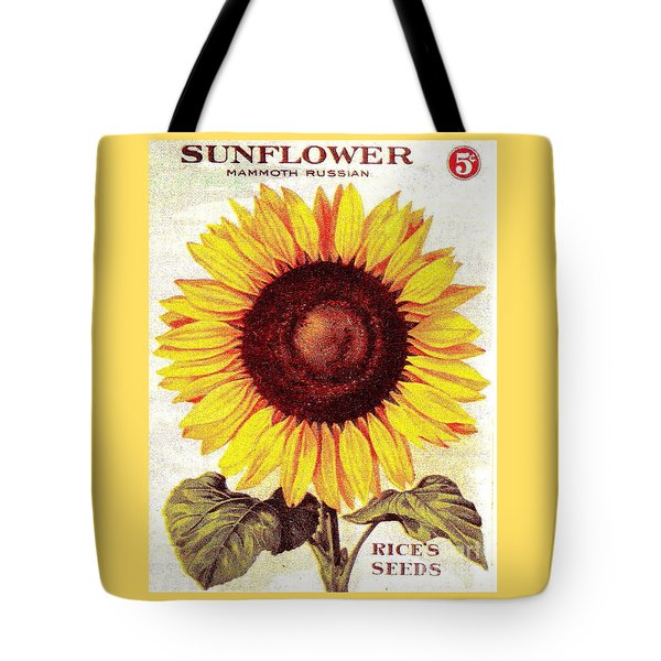Antique Sunflower Seeds Pack Tote Bag