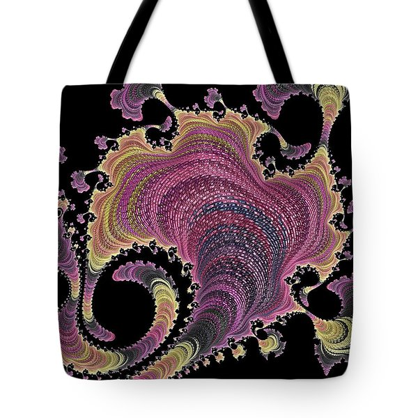 Tote Bag featuring the digital art Antique Tapestry by Susan Maxwell Schmidt