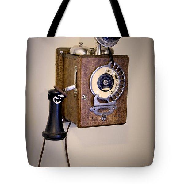 Antique Telephone Tote Bag