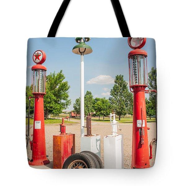 Antique Texaco Pumps Tote Bag