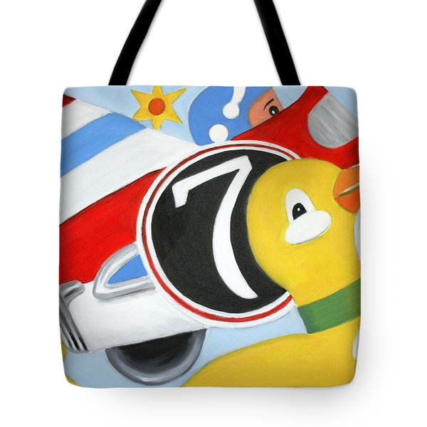 Tote Bag featuring the painting Antique Toys by Stacy C Bottoms