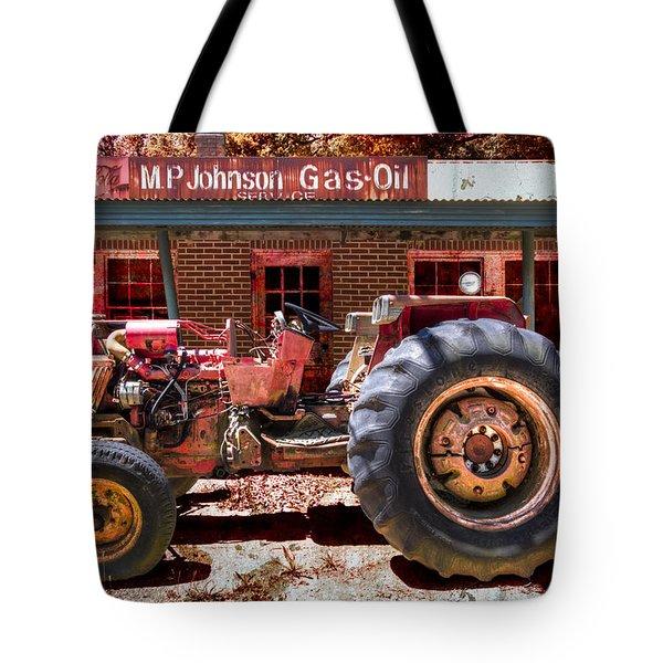 Antique Tractor Tote Bag by Debra and Dave Vanderlaan