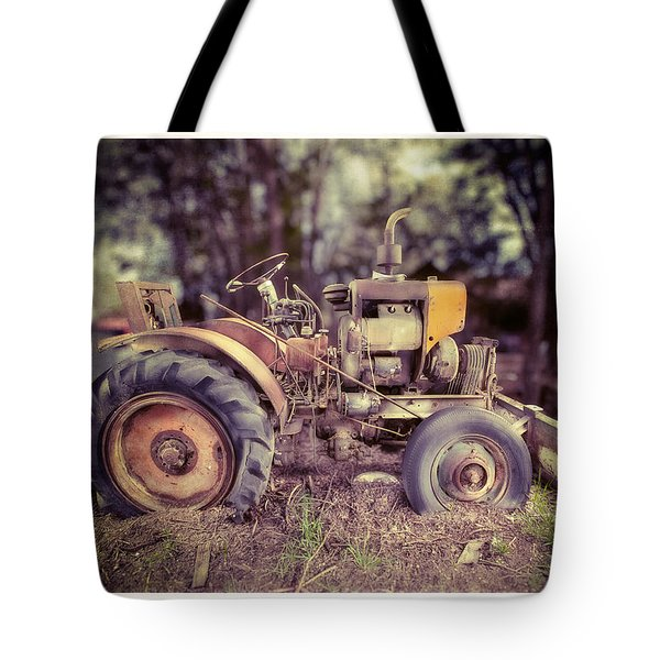 Antique Tractor Home Built Tote Bag