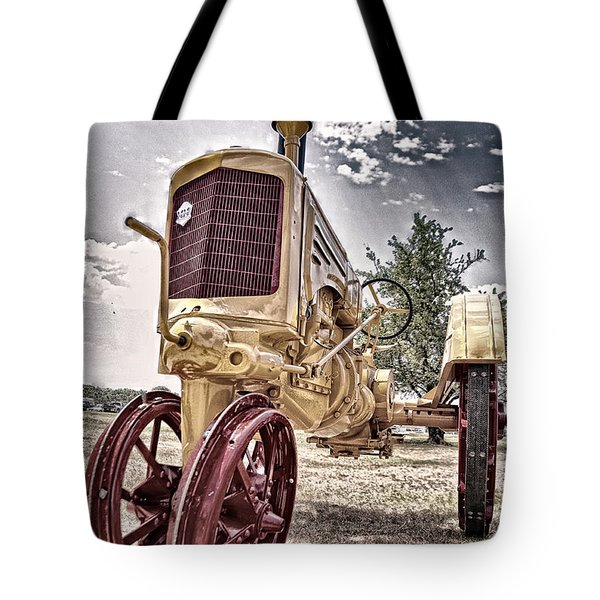 Antique Tractor Tote Bag by Tamyra Ayles