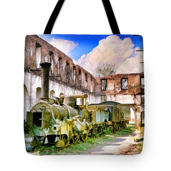 Antique Train Tote Bag by Chuck Staley