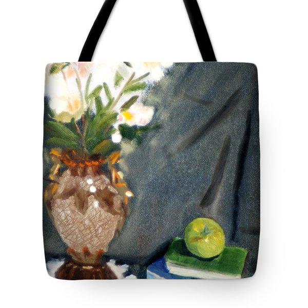 Antique Vase And Flower Tote Bag