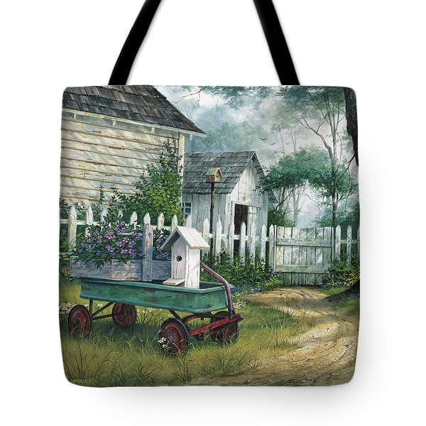 Antique Wagon Tote Bag