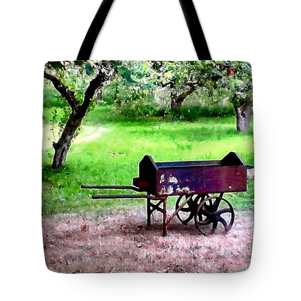Antique Wheelbarrow Tote Bag by Sadie Reneau