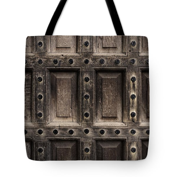 Antique Wooden Door Closeup Tote Bag