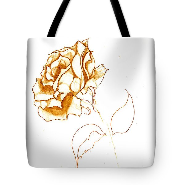 Antiqued Bloom Tote Bag by Heather  Hiland