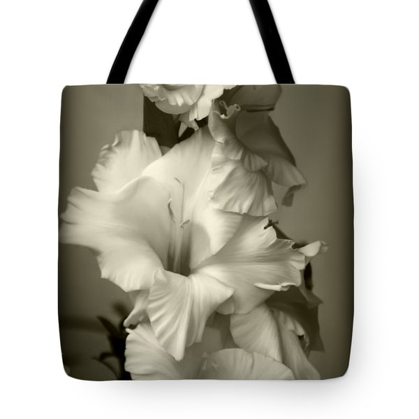 Antiqued Gladiolus Tote Bag