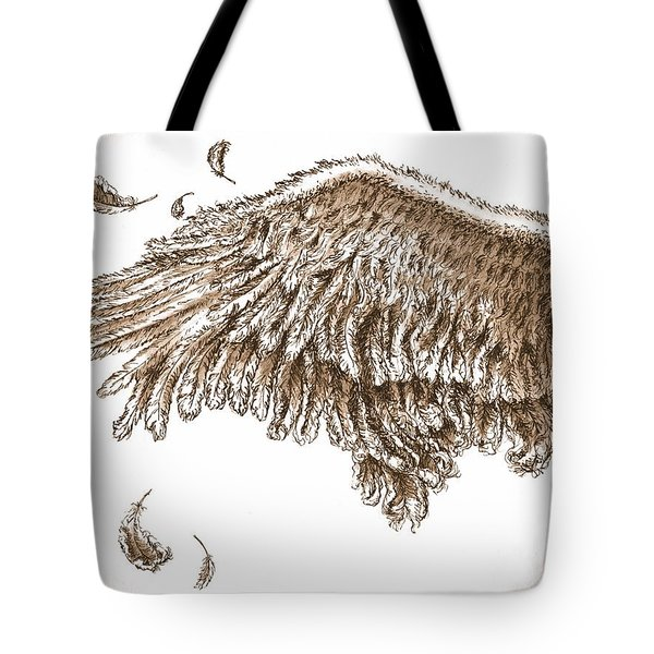 Antiqued Wing Tote Bag by Adam Zebediah Joseph
