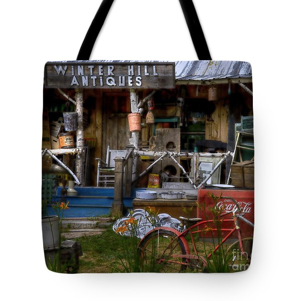 Antiques Tote Bag by Alana Ranney