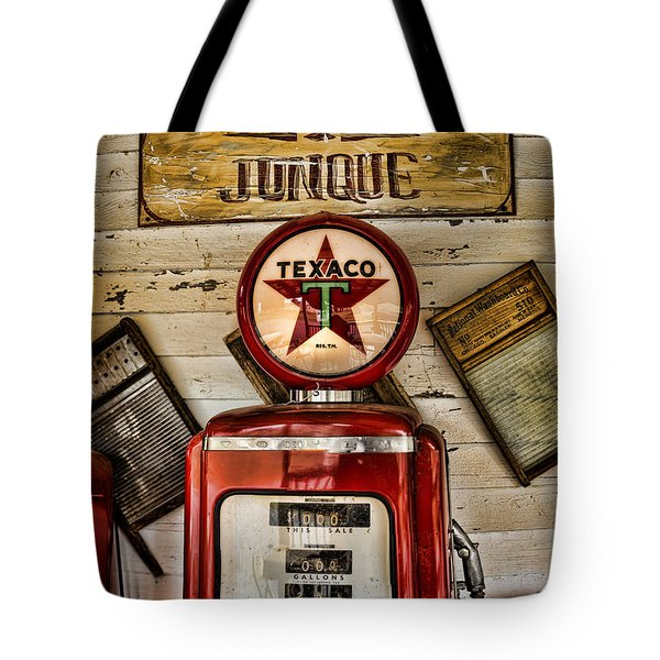 Antiques And Junque Tote Bag by Heather Applegate