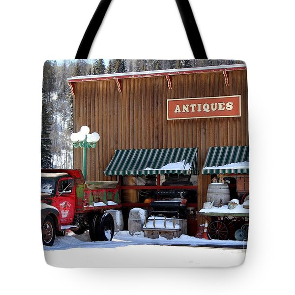 Tote Bag featuring the photograph Antiques In The Mountains by Fiona Kennard