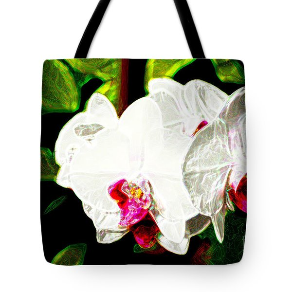 Aos White Orchid 2 Tote Bag