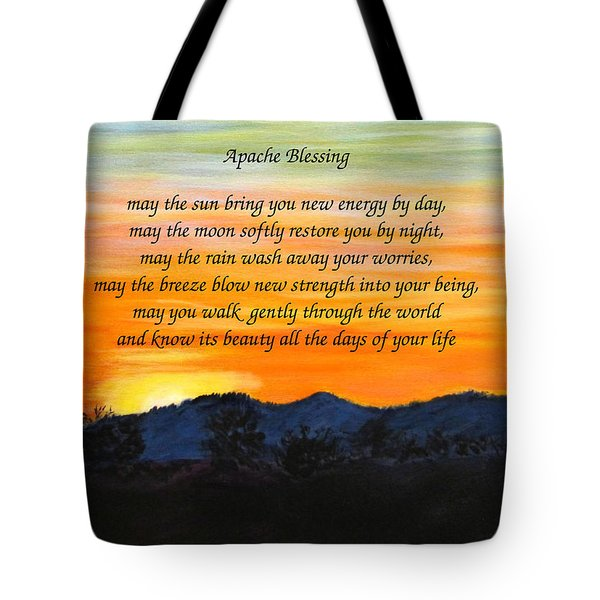 Apache Blessing-sunrise Tote Bag