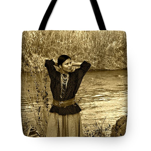 Apache River Maiden Tote Bag