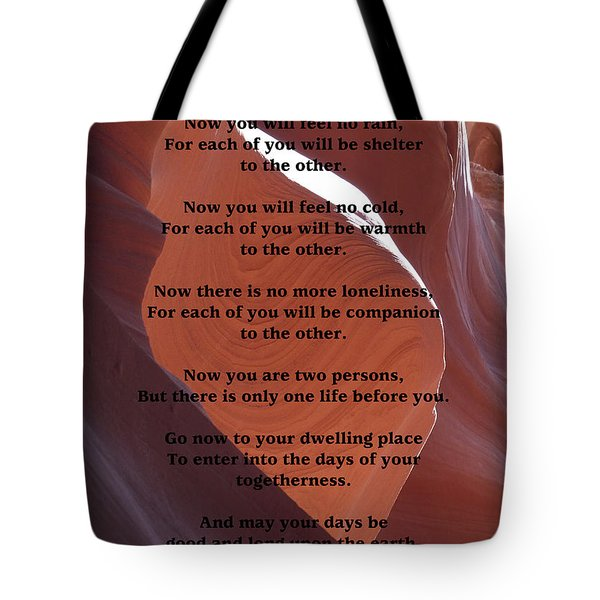 Apache Wedding Blessing On Canyon Photo Tote Bag by Marcia Socolik