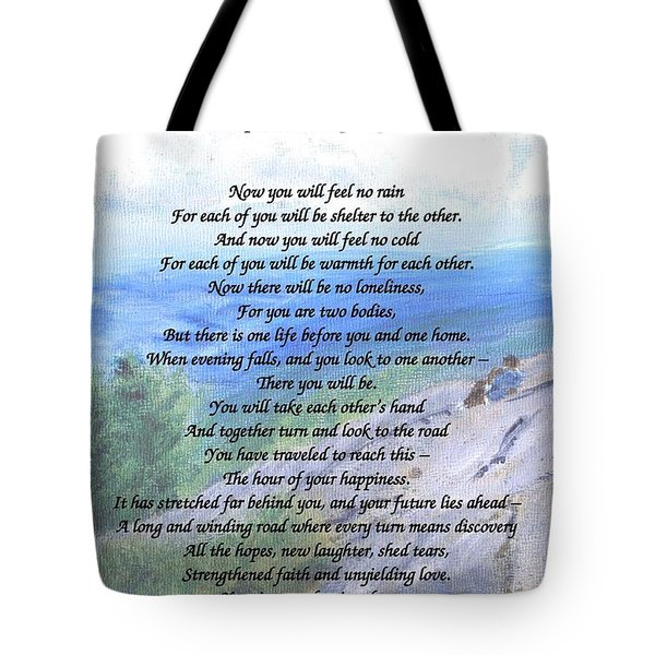 Apache Wedding Prayer Tote Bag