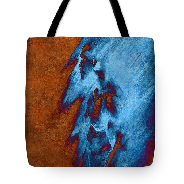 Tote Bag featuring the drawing Apart With Mood Texture by Paul Davenport