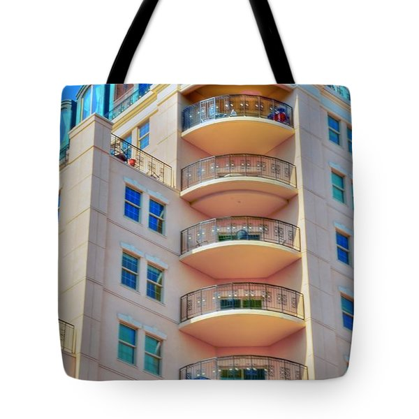 Apartment Building Tote Bag by Kathleen Struckle