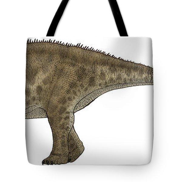 Apatosaurus, A Sauropod Dinosaur Tote Bag by Vitor Silva
