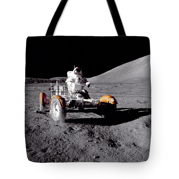 Apollo 17 Moon Rover Ride Tote Bag by Movie Poster Prints